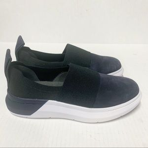 Under Armour slip on blue suede sneakers 6 new